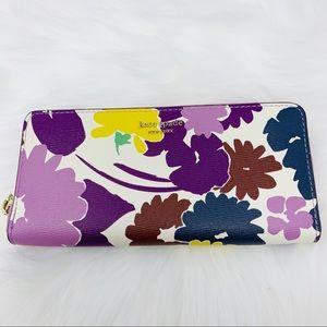 Slim continental wallet Kate spade floral Sylvia